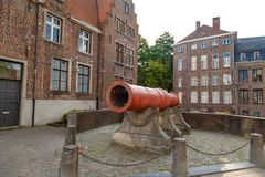 Big Cannon in Ghent Royalty Free Stock Photos