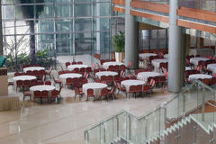 Big canteen of conference center hotel Royalty Free Stock Image