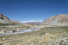 Big canyon among Himalaya mountains Stock Image