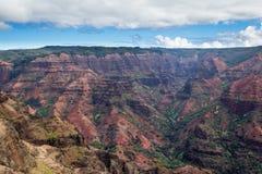 Big Canyon in Kauai Hawaii. Beautiful overlook in Waimea Canyon State Park in Kauai, Hawaii Royalty Free Stock Image