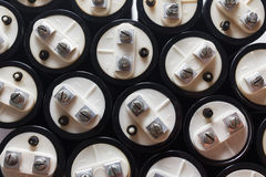 Big capacitors, electronic component Stock Photography