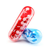 Big capsules with different colors of small capsul Royalty Free Stock Images