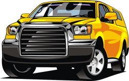 Big 4x4 car design. On the white background vector illustration