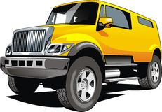 Big 4x4 car design. On the white background stock illustration