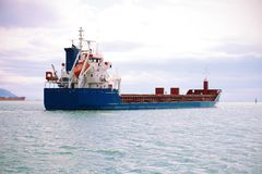 Big cargo ship royalty free stock images
