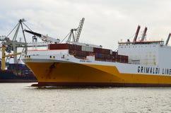Logistic transportation in port Stock Photos