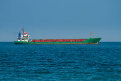 Big cargo ship in sea Royalty Free Stock Photography