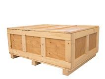 Big cargo wooden crate Stock Photo