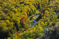 Big Carp River Valley Stock Photography