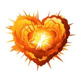 Big Cartoon Heart Explosion Royalty Free Stock Photo