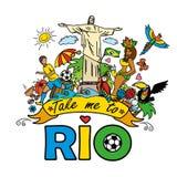 Big cartoon set of Brazilian templates Royalty Free Stock Image