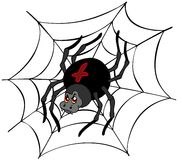 Big cartoon spider Stock Image