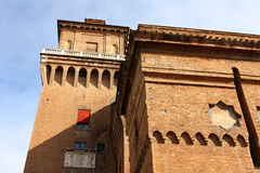 Big castle in Ferrara Royalty Free Stock Image