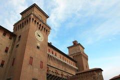 Big castle in Ferrara, Italy Royalty Free Stock Photography