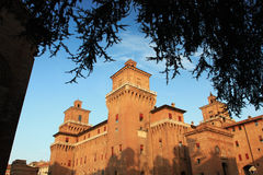 Big castle in Ferrara, Italy Royalty Free Stock Image