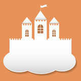 Big castle in paper cut style Stock Image