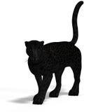 Big Cat Black Jaguar vector illustration