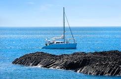 Big catamaran at Jeju island Royalty Free Stock Photo
