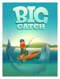 Big catch concept poster card. Vector illustration. Eps 10 Stock Photography