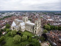 The Big Cathedral York Church aerial Yorkshire Stock Photo