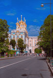 Big Catherine Palace and Tsarskoye Selo Lyceum. Great Catherine Palace, Tsarskoye Selo Lyceum and autumn morning Stock Images
