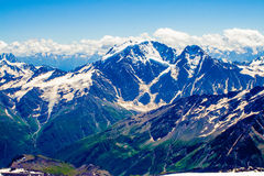 Big Caucasian Ridge. View of Main Caucasian Ridge, part of the boundary between Europe and Asia Royalty Free Stock Images