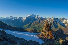 Big Caucasian Ridge. View of Main Caucasian Ridge, part of the boundary between Europe and Asia royalty free stock photo