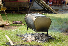 Big cauldron on the funeral ceremony in Tana Toraja Stock Images