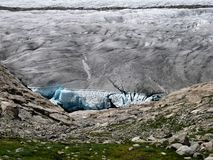 Big Cave In The Aletsch Glacier royalty free stock images