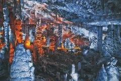 Big cave in Israel. Big cave sorek locaded in Israel Stock Photography