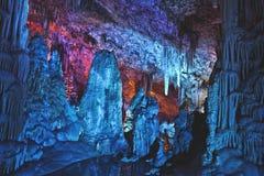 Big cave in Israel. Big cave sorek locaded in Israel Royalty Free Stock Photo