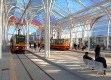The big center tram. Royalty Free Stock Photos