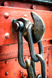 Big chain and hook Royalty Free Stock Image