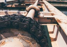Big chain of Sweepers sediment in water treatment plant.  Royalty Free Stock Images