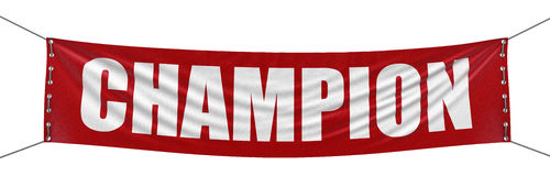 Big Champion Banner. Image with clipping path Royalty Free Stock Images