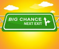 Big Chance Showing Business Possibilities 3d Illustration. Big Chance Sign Shows Business Possibilities 3d Illustration stock photos