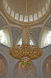 Big chandelier. Sheikh Zayed Mosque in Abu Dhabi is the largest mosque in the United Arab Emirates and the sixth largest mosque in the world. The mosque was Stock Photos