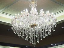 Free Big Chandelier And White Lighting On The Wall Royalty Free Stock Image - 78148326