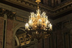 Big chandelier in cathedral Stock Photos