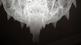 Big chandelier in a hall. Steadicam shot stock footage