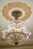 Big chandelier. The Big chandelier in the high hall Royalty Free Stock Images