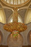 Big Chandelier. Large swarovski chandelier in the grand mosque in abu dhabi Stock Images
