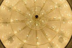 Philharmonic big-sized chandelier. Big chandelier in philharmonic hall Royalty Free Stock Photo