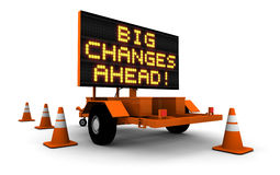 Big Changes - Construction Sign Message Stock Photography