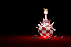 Big changes. The new ruler. Elite Society chess metaphor. 3D r Stock Images