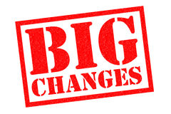 BIG CHANGES Rubber Stamp. BIG CHANGES red Rubber Stamp over a white background Stock Image