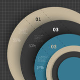 Big chart for infographic Royalty Free Stock Image