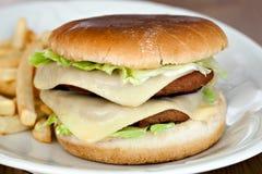 Big cheese burger Royalty Free Stock Photo