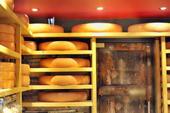 Big cheese storage. Details of big cheese storage stock image