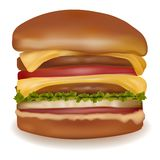 Big cheeseburger. Royalty Free Stock Photo